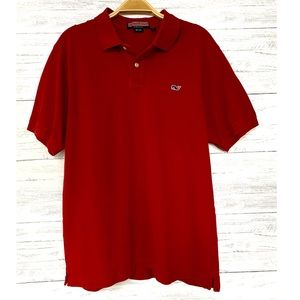Vineyard Vines Red Short Sleeve Polo Shirt